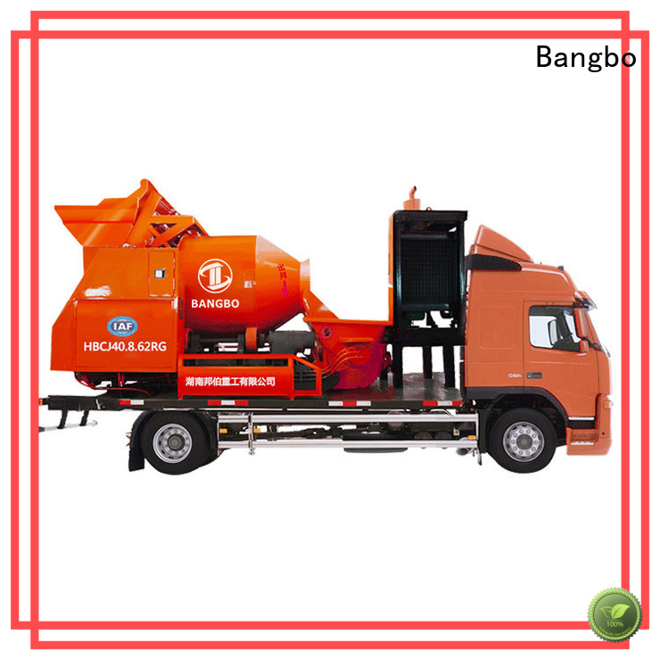 Bangbo Professional mixer pump truck supplier for highway project