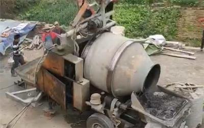 Concrete mixer pump instance