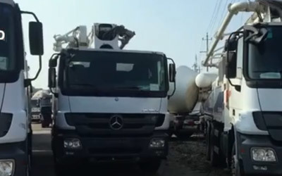 How to export used concrete pump truck