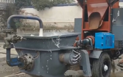 How to operate concrete mixer pump
