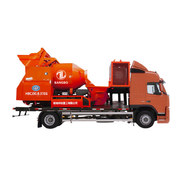 Mixer City Pump Truck  HBCJ30.8.37EG Small Concrete Mixer Truck