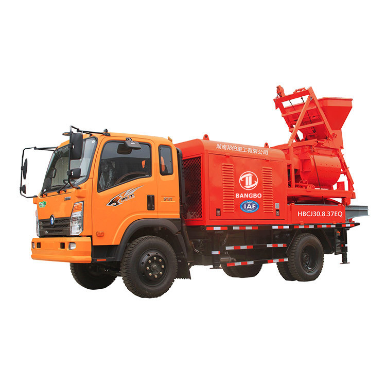Mixer city pump truck HBCJ30.8.37EQ Mixer Pump Truck