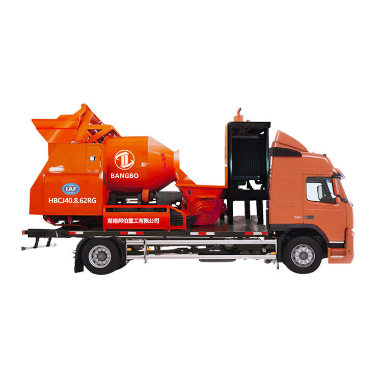 Mixer City Pump Truck HBCJ40.8.62RG Concrete Mixer Pump Truck