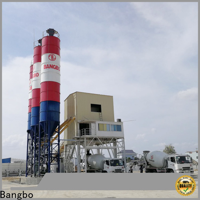 Bangbo Durable cement mixing plant company for mixing concrete ingredients