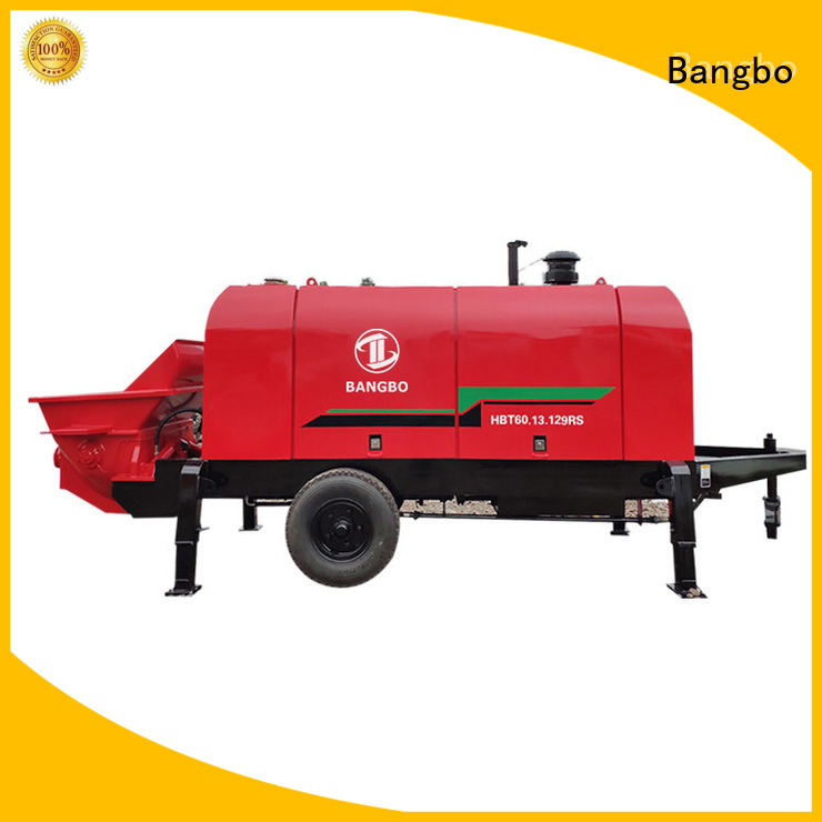 Durable stationary concrete pump supplier for construction industry