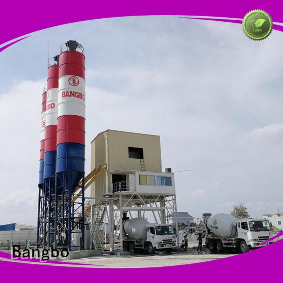 Bangbo concrete batching plant company for blending concrete ingredients