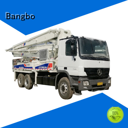 High performance concrete pump truck supplier for engineering construction