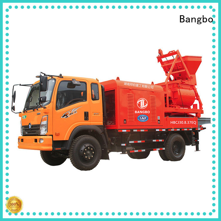 Bangbo High performance mixer pump truck company for railway project