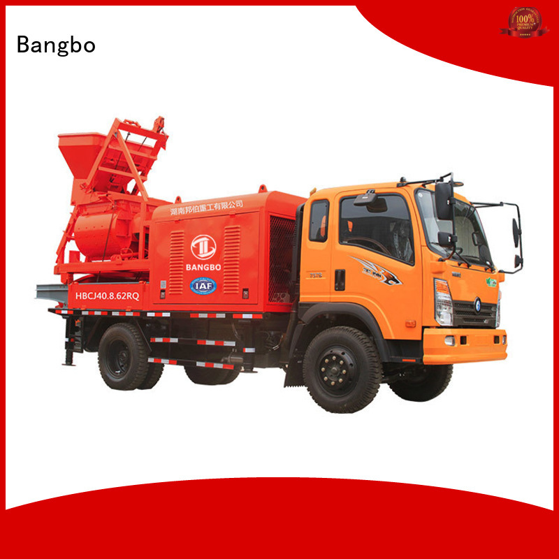 Professional mixer pump truck factory for railway project