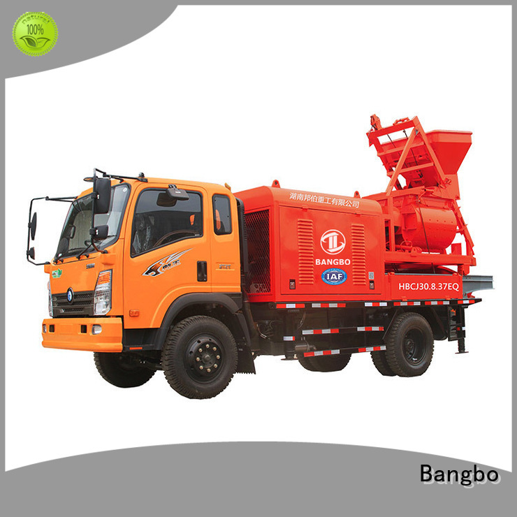 Bangbo mixer pump truck supplier for engineering construction