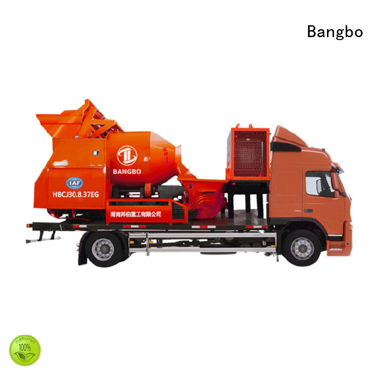 Bangbo Great concrete mixer pump truck company for construction projects