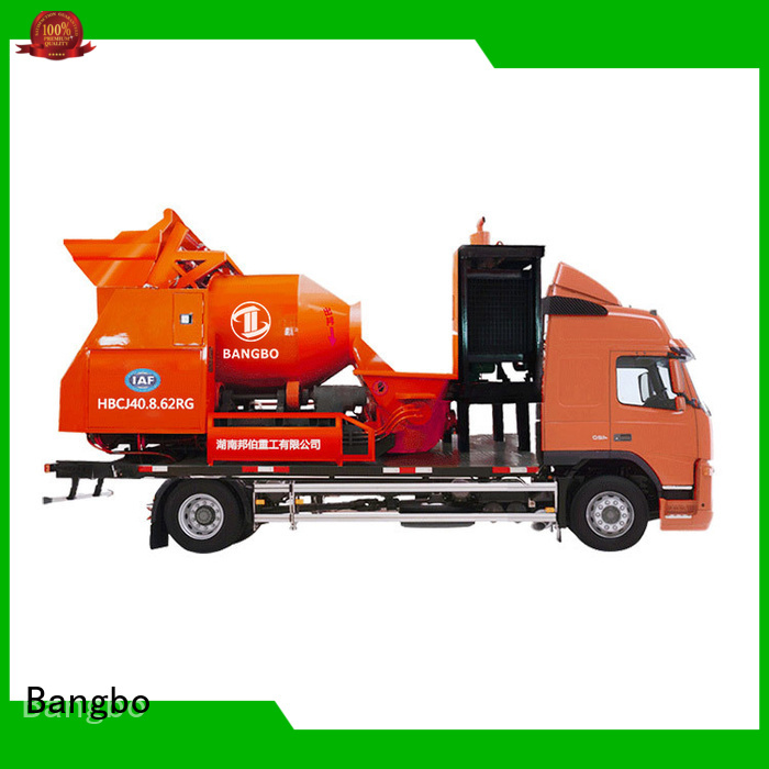 Bangbo concrete mixer truck manufacturers factory for tunnel project