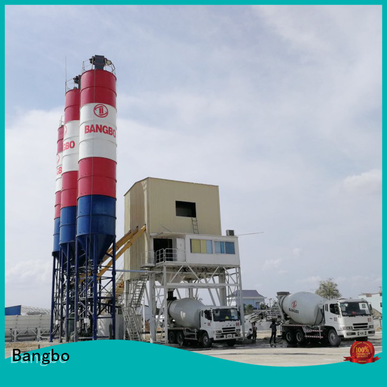 Professional concrete batching and mixing plant factory for mixing concrete ingredients