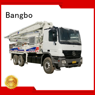 Bangbo cement pump truck supplier for construction project