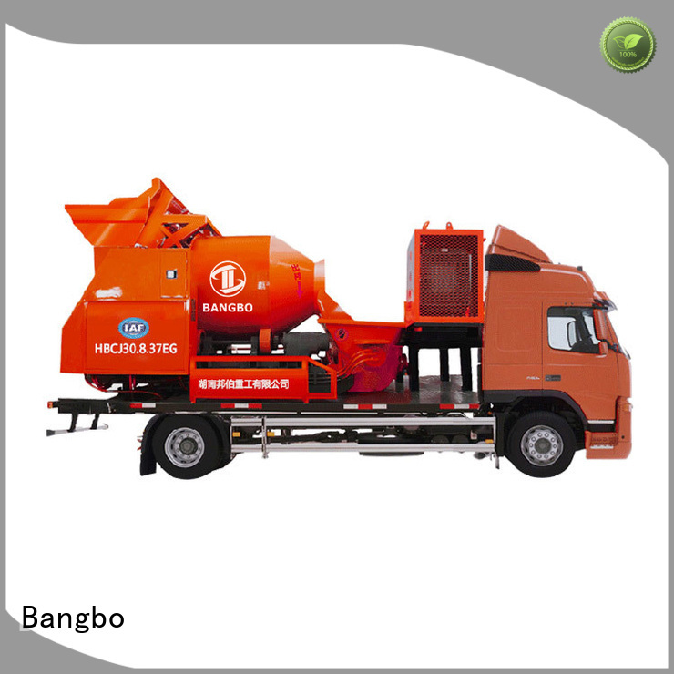 Bangbo Professional concrete mixer pump truck factory for engineering construction