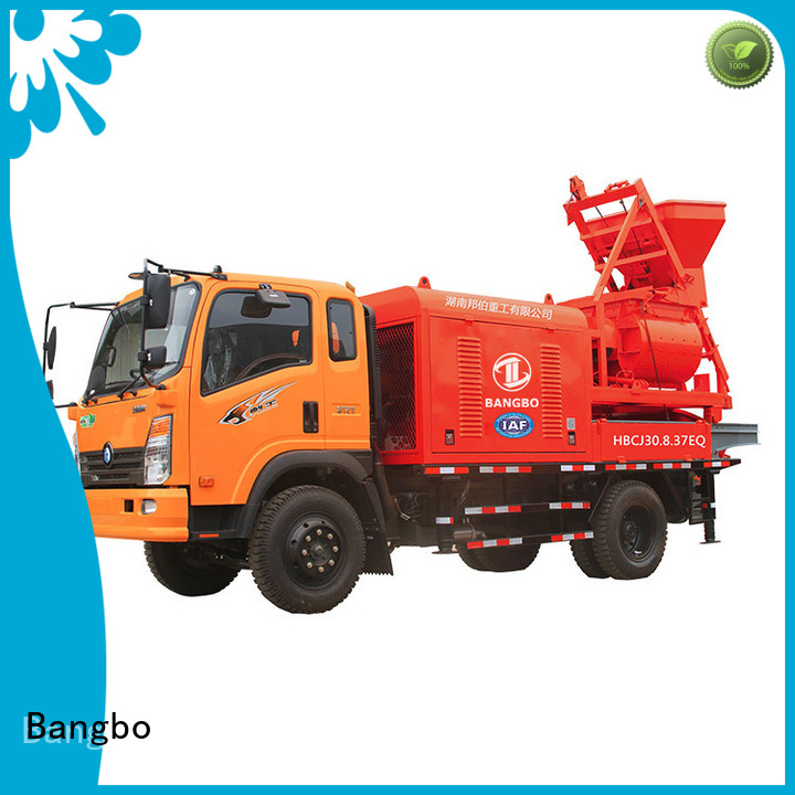 Bangbo mixer pump truck supplier for railway project