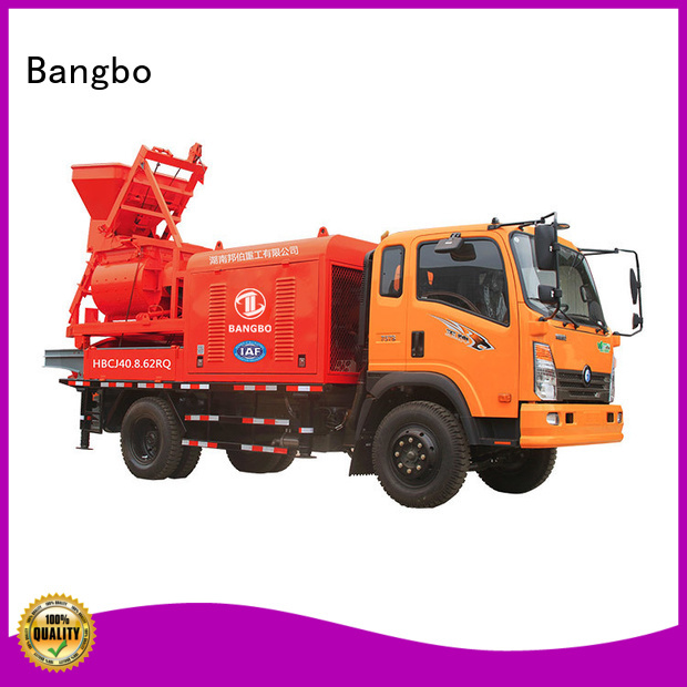 Bangbo Great mixer pump truck manufacturer for tunnel project