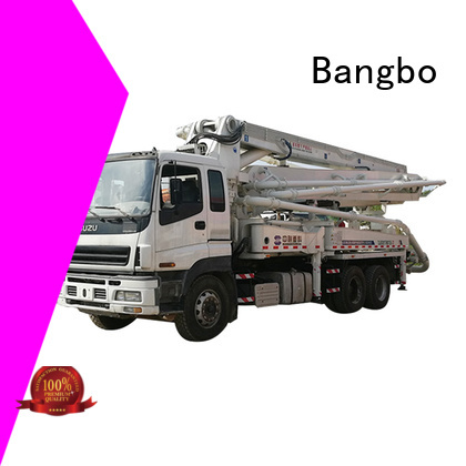 Great cement pump truck supplier for construction project