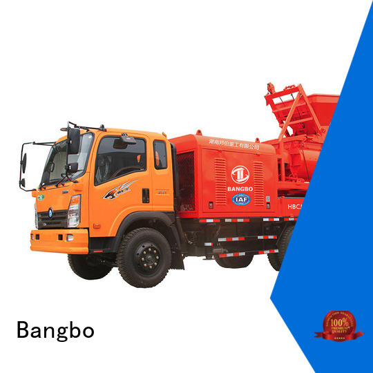 Bangbo Great concrete mixer pump truck factory for highway project