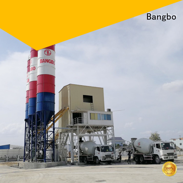 Bangbo small concrete batch plant for sale supplier for mixing concrete ingredients