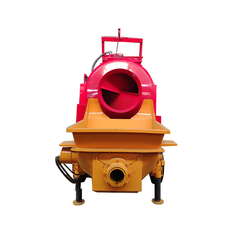 BANGBO Mini Portable Self Loading Diesel Concrete Mixer Pump Machine