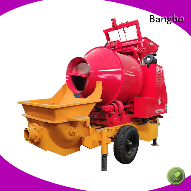 Bangbo cement mixer with pump supplier for construction projects