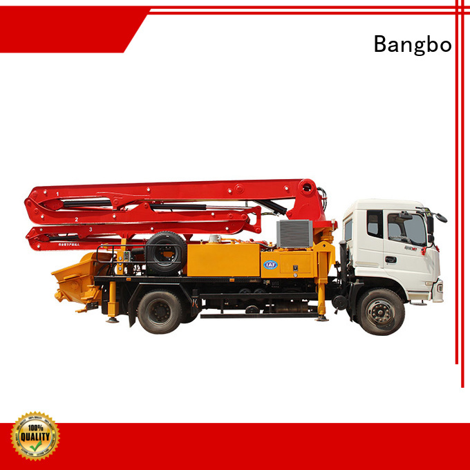 Bangbo buy concrete pump truck manufacturer for construction projects