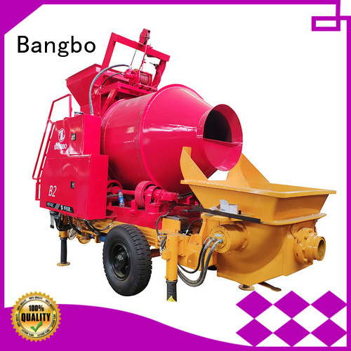 Bangbo Professional concrete mixer machine with pump company for construction projects