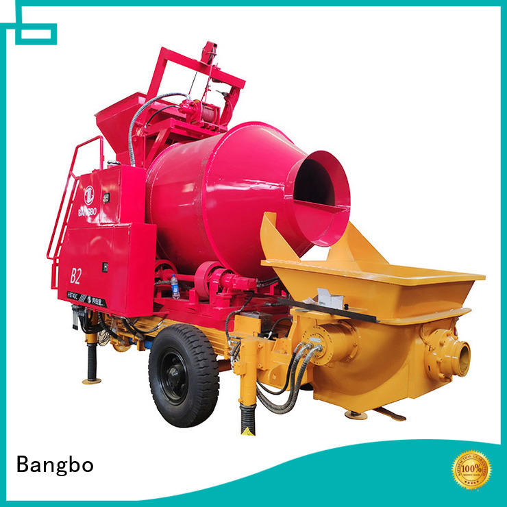 Bangbo High performance concrete mixer and pump supplier for engineering construction
