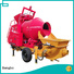 High performance concrete mixer machine with pump factory for engineering construction