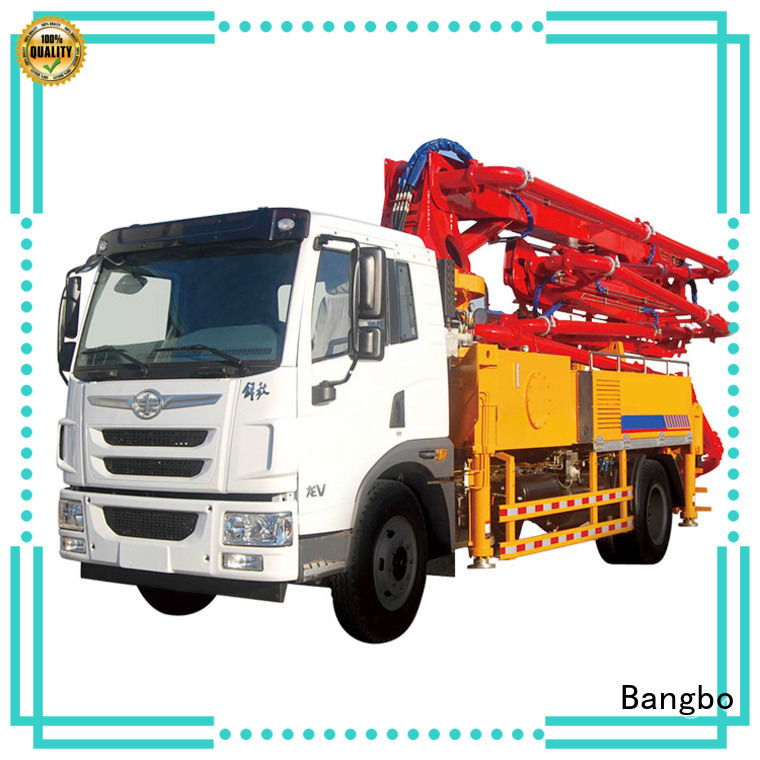 Bangbo cement pump truck supplier for engineering construction