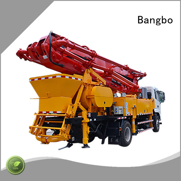 Bangbo Professional concrete pump with mixer company for construction project