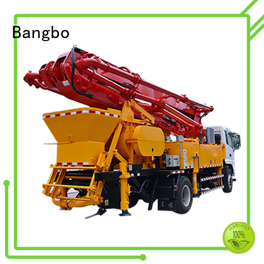 Bangbo concrete pump with mixer factory for engineering construction