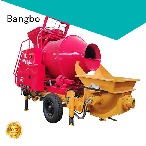 Bangbo Professional concrete mixer machine with pump factory for construction projects