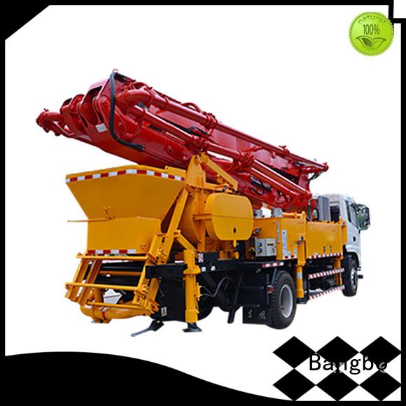 Bangbo concrete line pump company for construction project