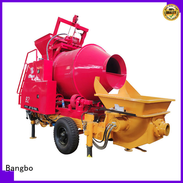 Great concrete mixer machine with pump company for construction industry