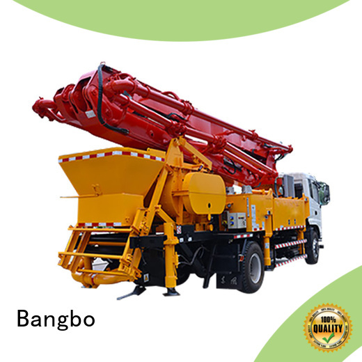 Bangbo High performance concrete pump with mixer factory for engineering construction