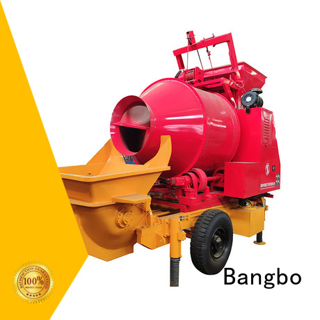 Bangbo cement mixer with pump factory for construction projects