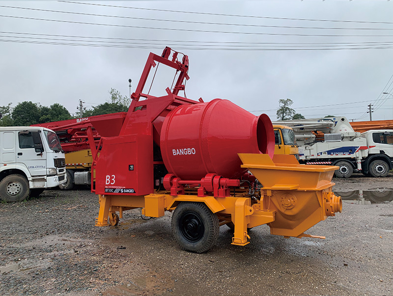 Bangbo cement mixer with pump supplier for construction projects-1