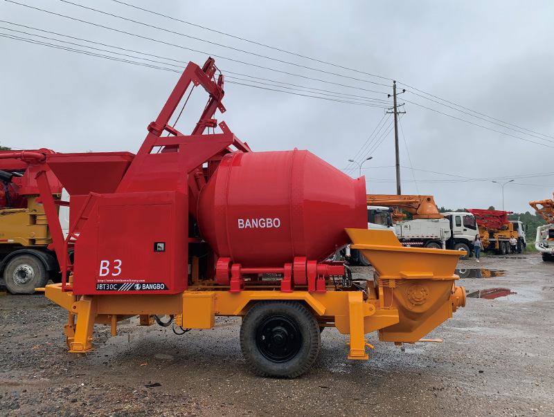 Bangbo cement mixer with pump supplier for construction projects-2