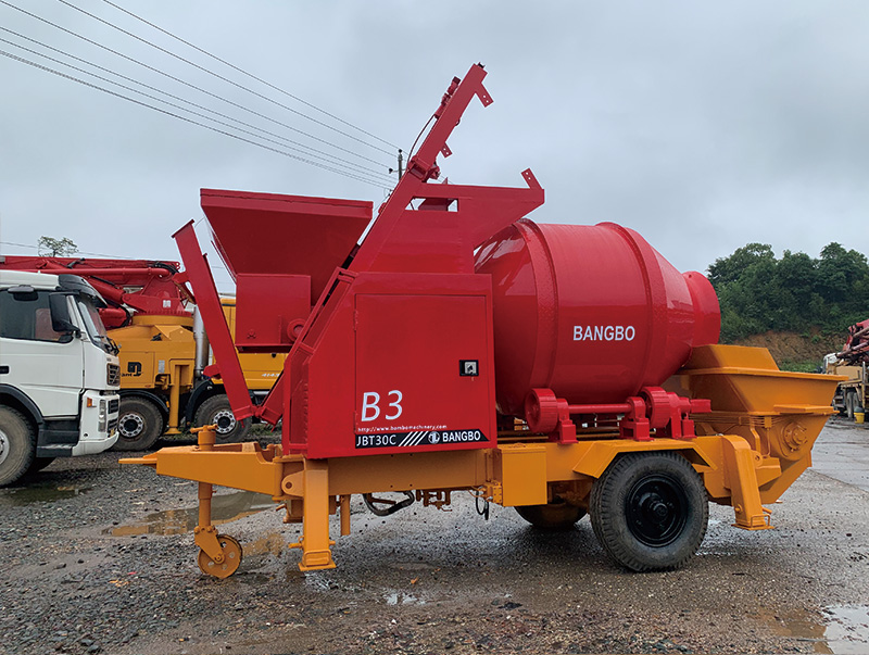Bangbo cement mixer with pump supplier for construction projects-3